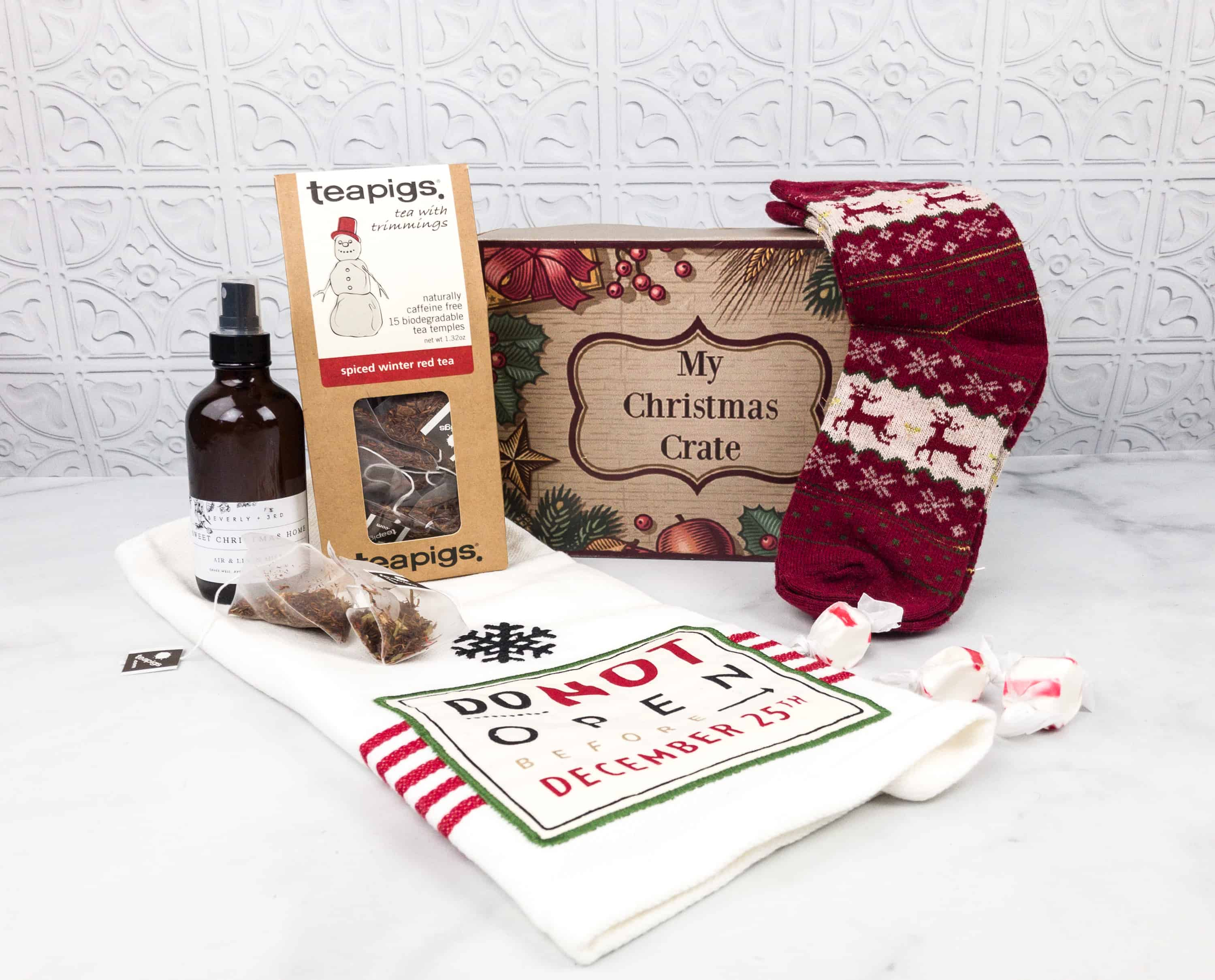 Christmas Crate Box.My Christmas Crate March 2018 Subscription Box Review