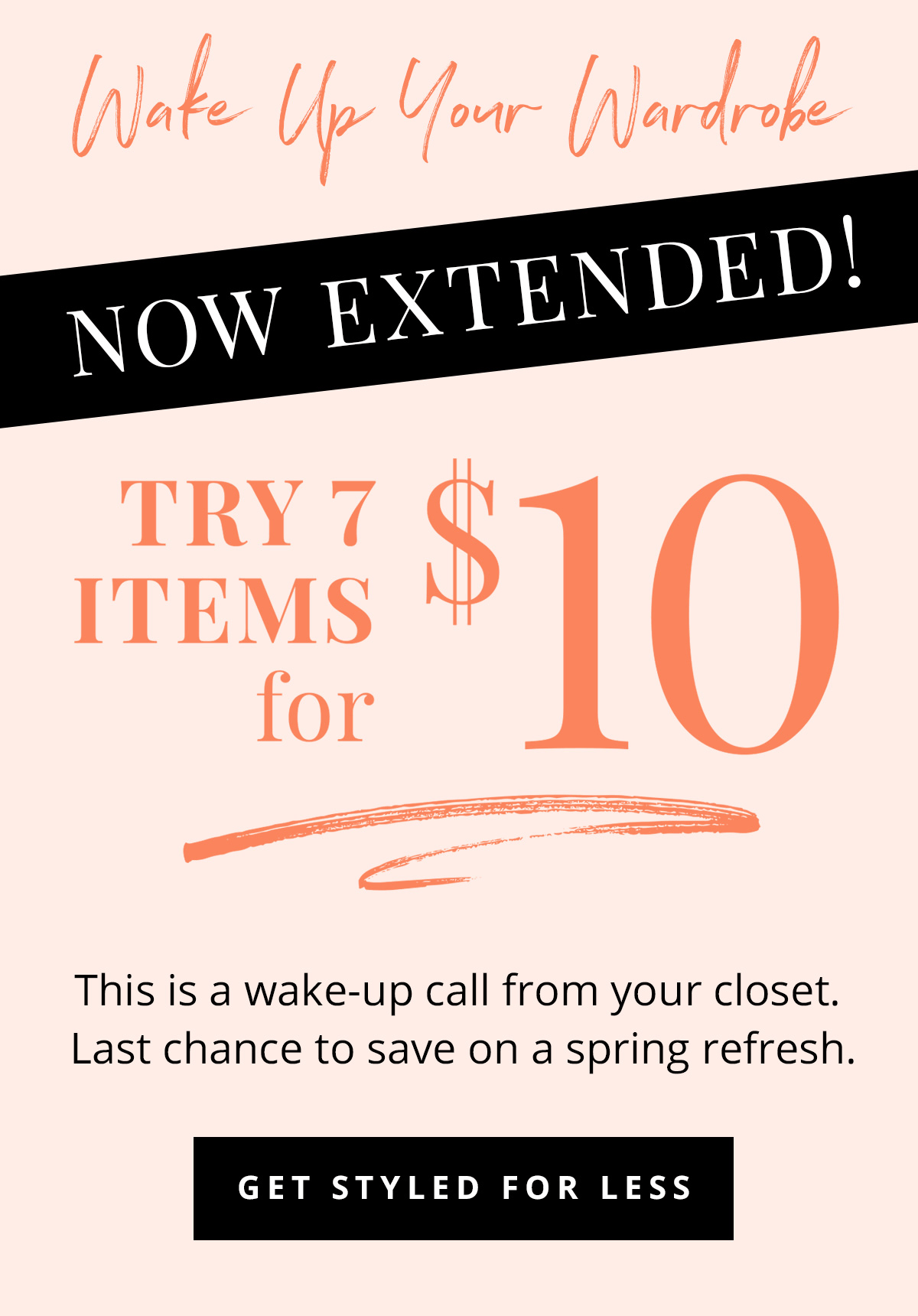Extended wantable style edit styling fee deal half off for Style at home subscription deal