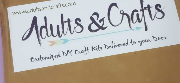 Adults & Crafts January 2018 Subscription Box Review + Coupon!
