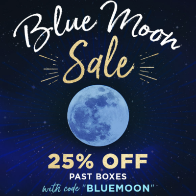 Goddess Provisions Blue Moon Sale: 25% Off Past Boxes!