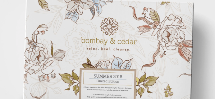 Bombay & Cedar Summer 2018 Limited Edition Box Spoilers #5 + Coupon!