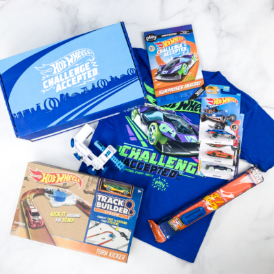 Hot Wheels Challenge Accepted PleyBox Spring 2018 Subscription Box Review & Coupon