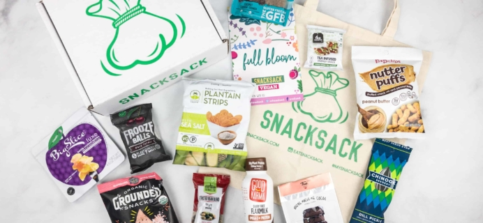 SnackSack March 2018 Subscription Box Review & Coupon – Vegan