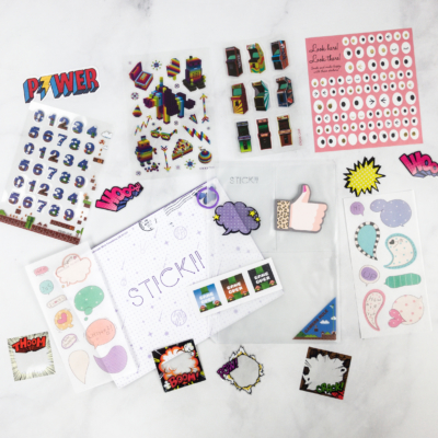 Stickii Club March 2018 Subscription Box Review – Pop Pack!