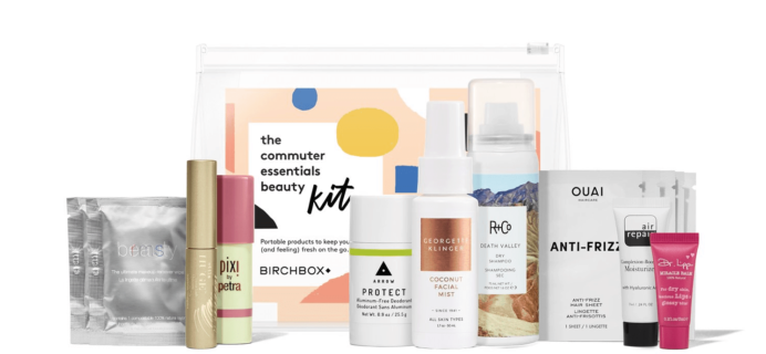New Birchbox Kit + Free Gift Coupons – The Commuter Essentials Beauty Kit