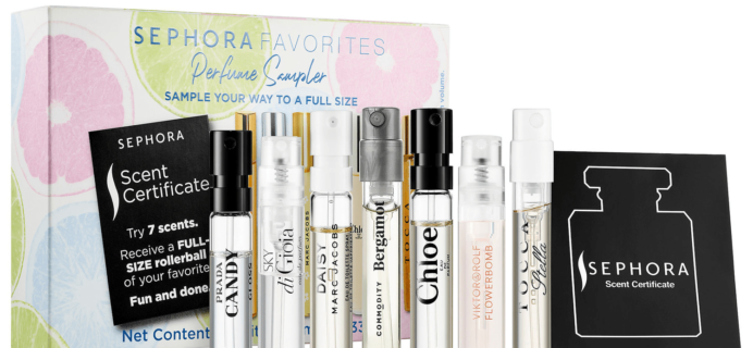 New Sephora Favorites Kits Available Now: Perfume Travel Sampler Kit!