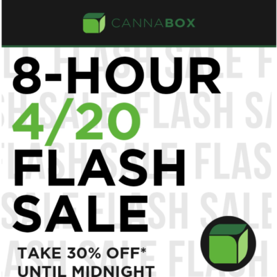 Cannabox Flash Deal: Get 30% Off All Subscriptions!TONIGHT ONLY!