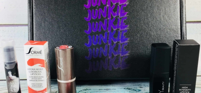 Lipstick Junkie April 2018 Subscription Box Review + Coupon!