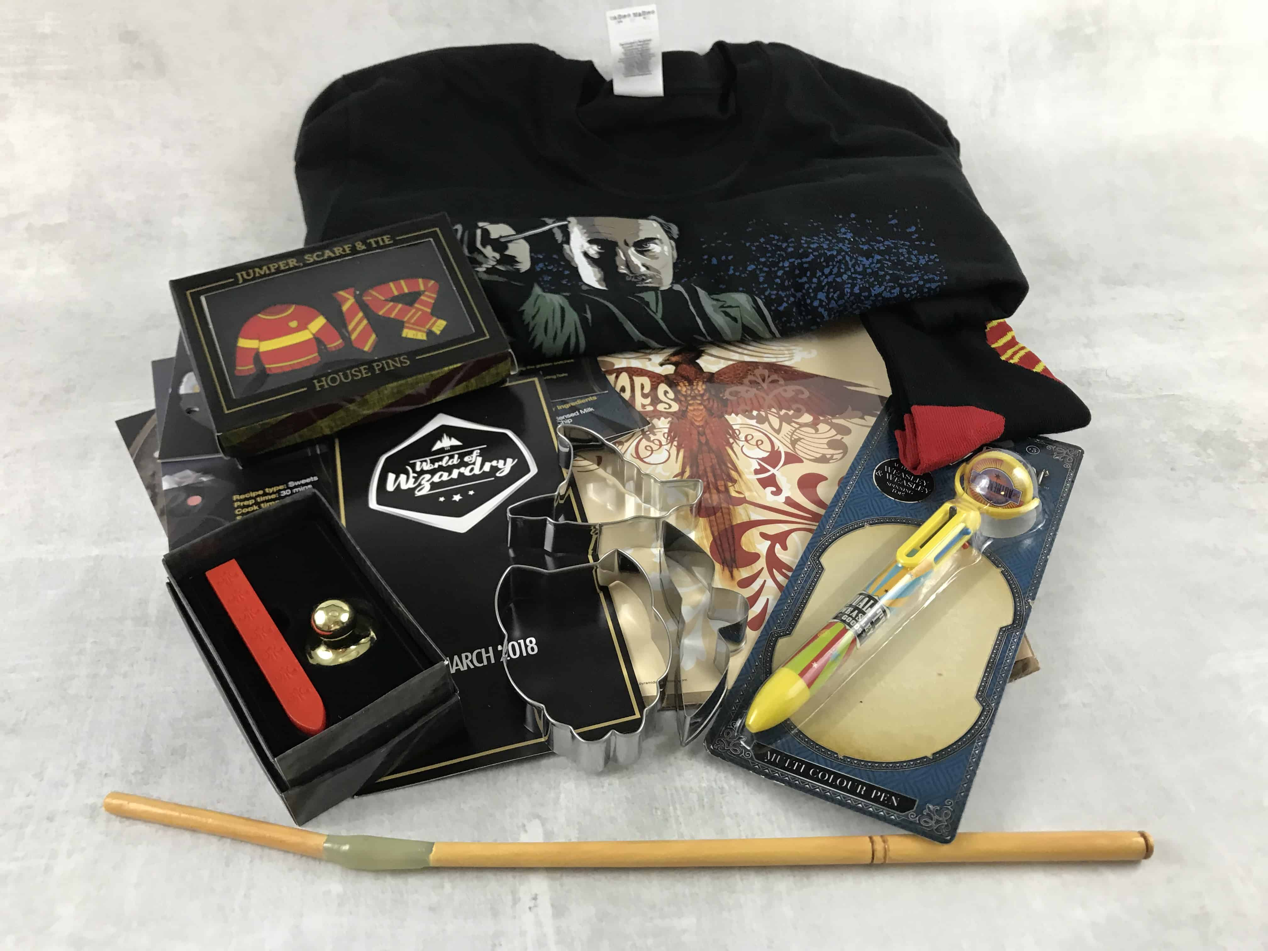 Geek Gear World of Wizardry March 2018 Subscription Box Review