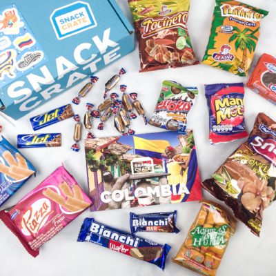 Snack Crate Premium March 2018 Subscription Box Review & $10 Coupon – Colombia