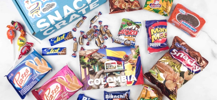 Snack Crate March 2018 Subscription Box Review & $10 Coupon – Colombia