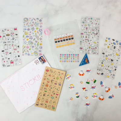 Stickii Club April 2018 Subscription Box Review – Cute Pack!
