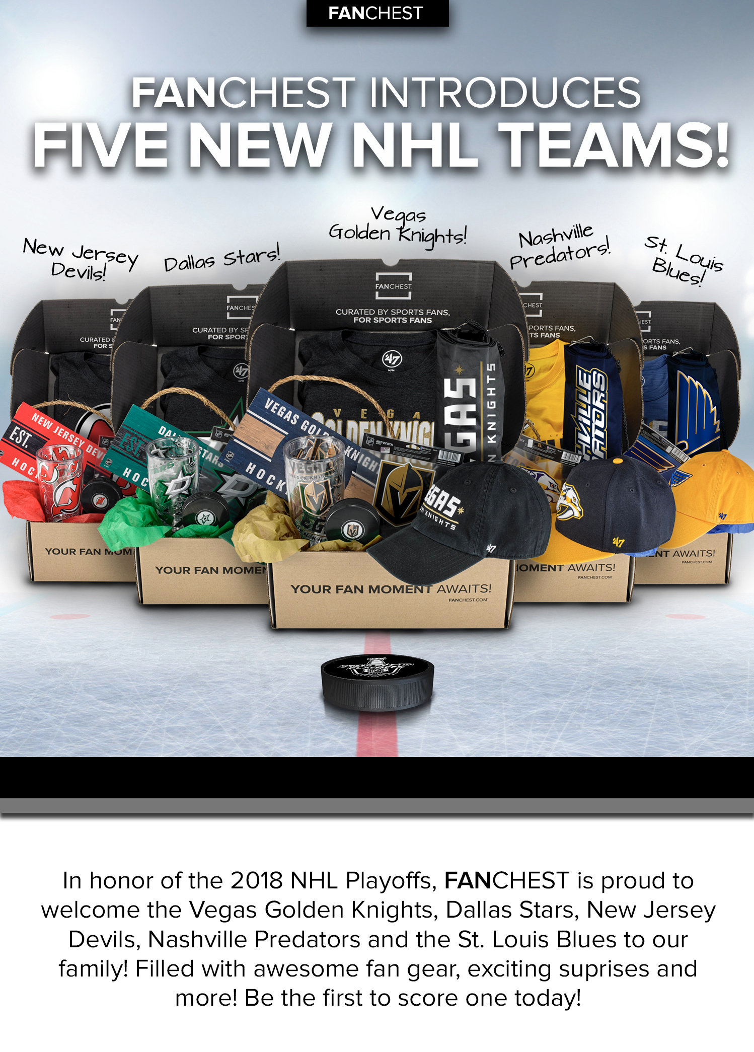 Fanchest Adds 5 New NHL Teams to the Lineup!