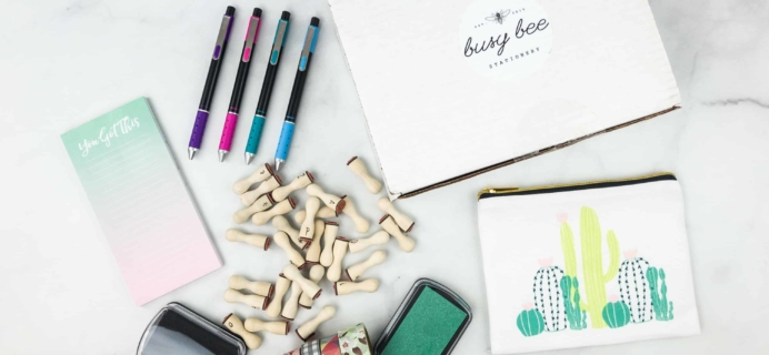 Busy Bee Stationery April 2018 Subscription Box Review