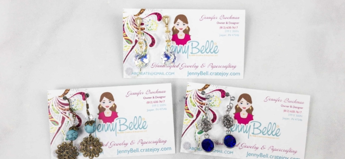 JennyBelle Designs Earrings April 2018 Subscription Box Review + Coupon