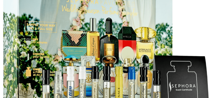 New Sephora Favorites Kits Available Now:  Wedding Season Perfume Sampler Kit