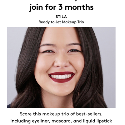 Birchbox Coupon: Free Stila Ready to Jet Makeup Trio with 3 Month Subscription!