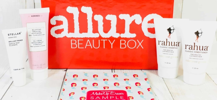 Allure Beauty Box April 2018 Subscription Box Review & Coupon