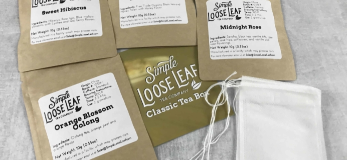Simple Loose Leaf Tea April 2018 Subscription Box Review + Coupon!