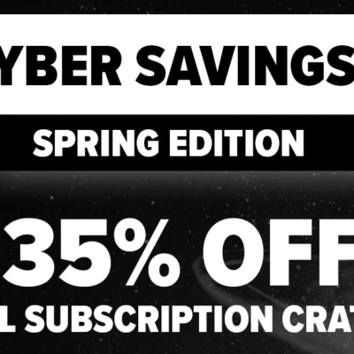 LAST DAY! Loot Crate Spring Cyber Sale Coupon: Get 35% Off Any Subscription!