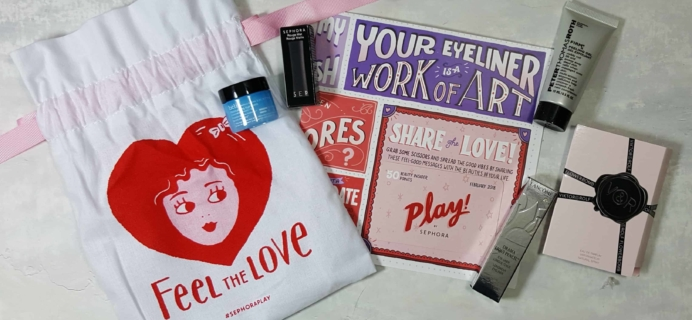 PLAY! by Sephora Subscription Box Review – February 2018