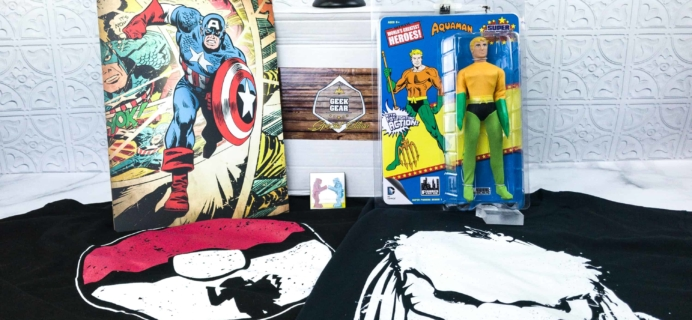 Geek Gear Box Special Edition March 2018 Subscription Box Review + Coupon