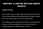 Loot Crate Destiny 2 Limited Edition Crate Shipping Update!