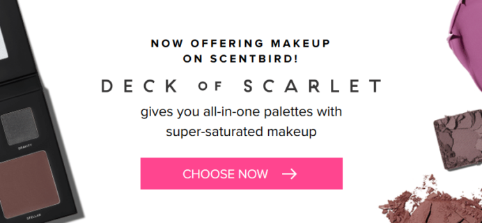 Scentbird Now Offers Deck Of Scarlet Makeup + Free Month Coupon!