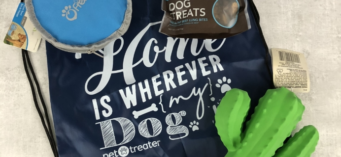 Pet Treater Dog Box Mini Subscription Box Review + Coupon – April 2018