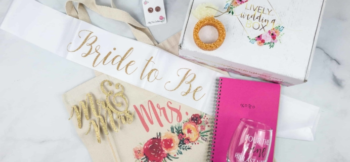 Lively Wedding Box May 2018 Subscription Box Review + Coupon