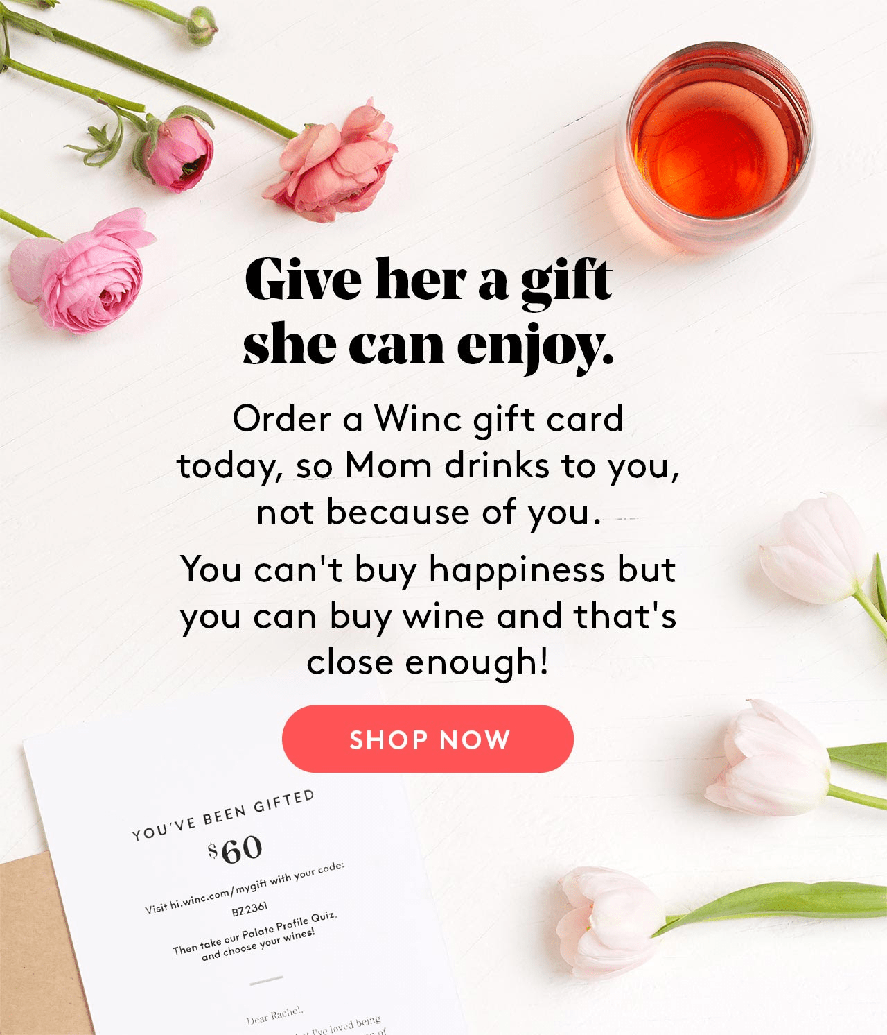 Winc Mothers Day Gift Ideas Winc Gift Cards Coupon Hello