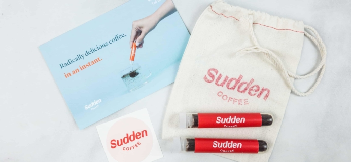 Sudden Coffee April 2018 Subscription Box Review + Coupon
