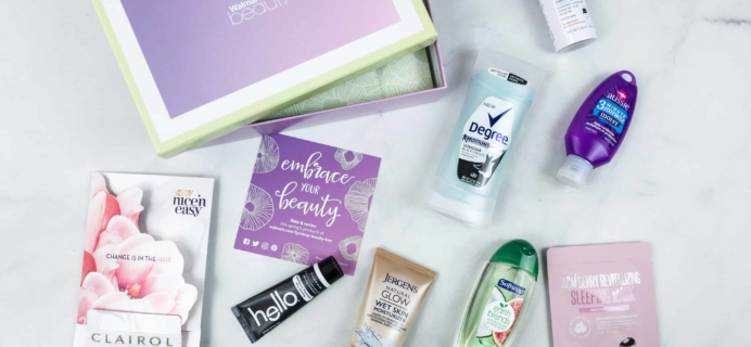 Walmart Beauty Box Spring 2018 Review – Classic Box