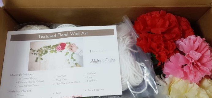 Adults & Crafts April 2018 Subscription Box Review + Coupon!