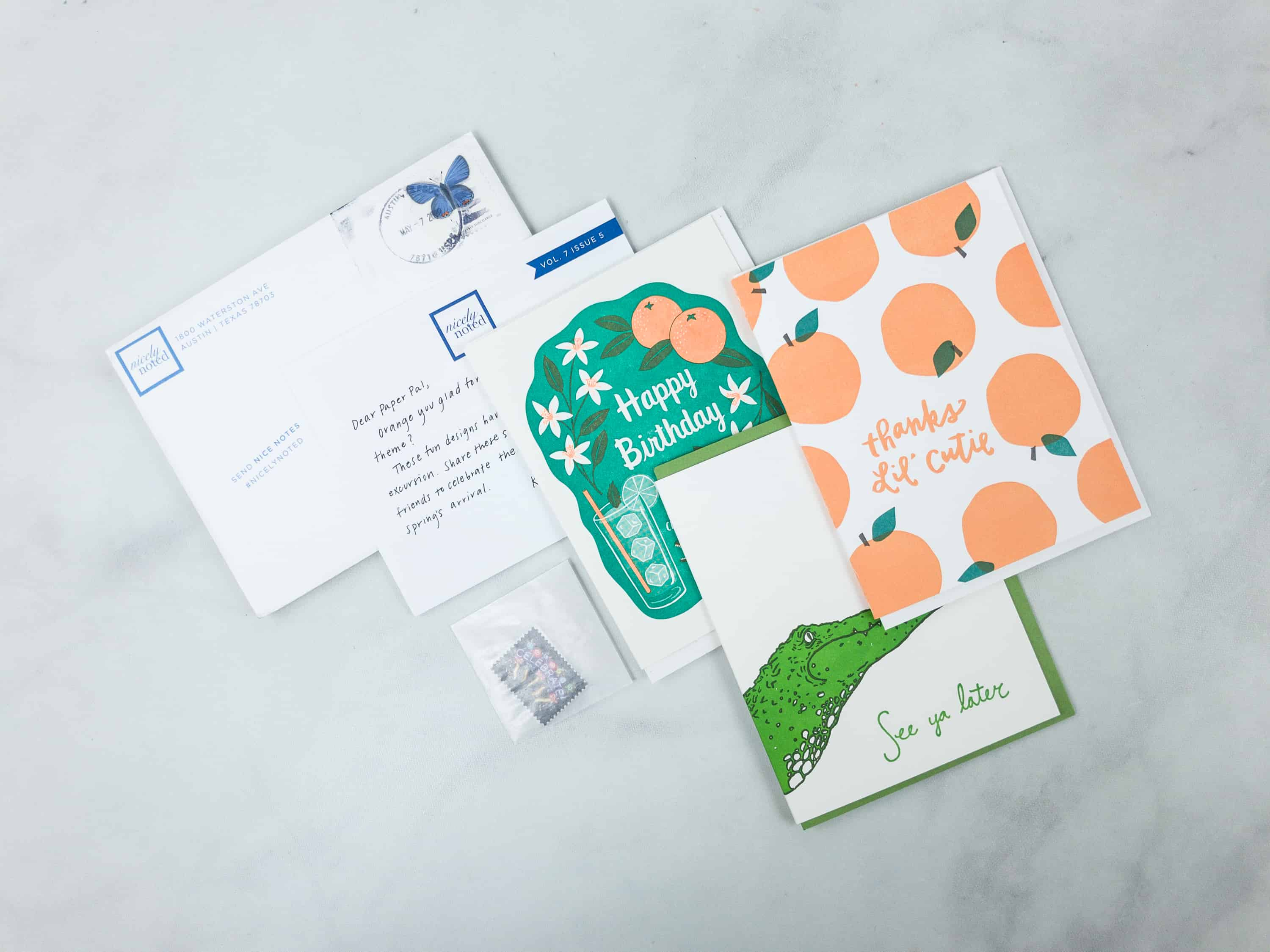 Nicely Noted May 2018 Subscription Box Review + Coupon! - hello subscription