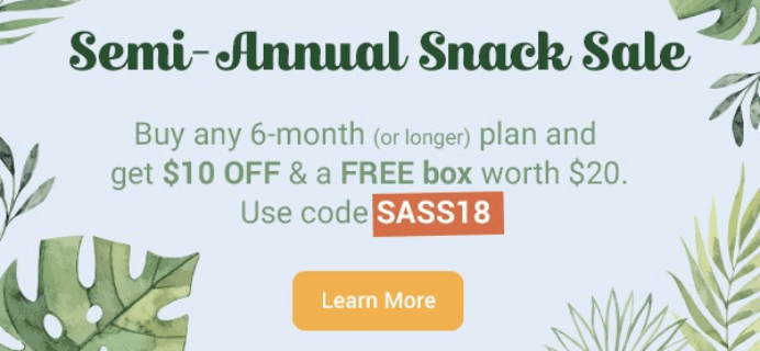 Love With Food Semi-Annual Sale: 6-Month Subscription $10 Off + FREE Bonus Box!