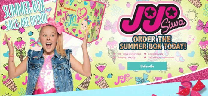 The Jojo Siwa Summer 2018 Box Full Spoilers!!