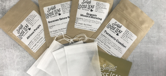 Simple Loose Leaf Tea May 2018 Subscription Box Review + Coupon!