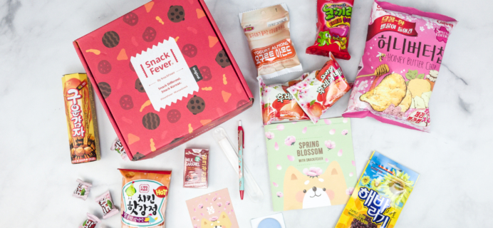 April 2018 Snack Fever Subscription Box Review + Coupon – Original Box