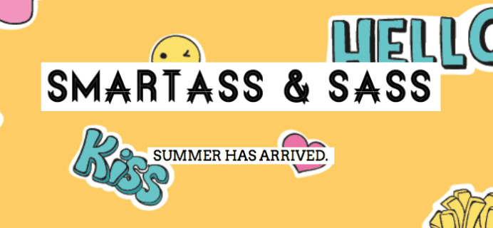 Smartass + Sass Box June 2018 Full Spoilers!