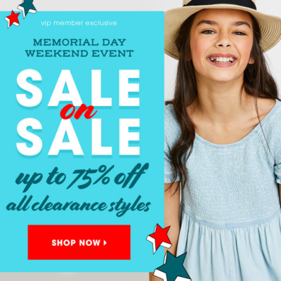 FabKids Memorial Day Sale: Save Up To 75% Off Clearance Styles!