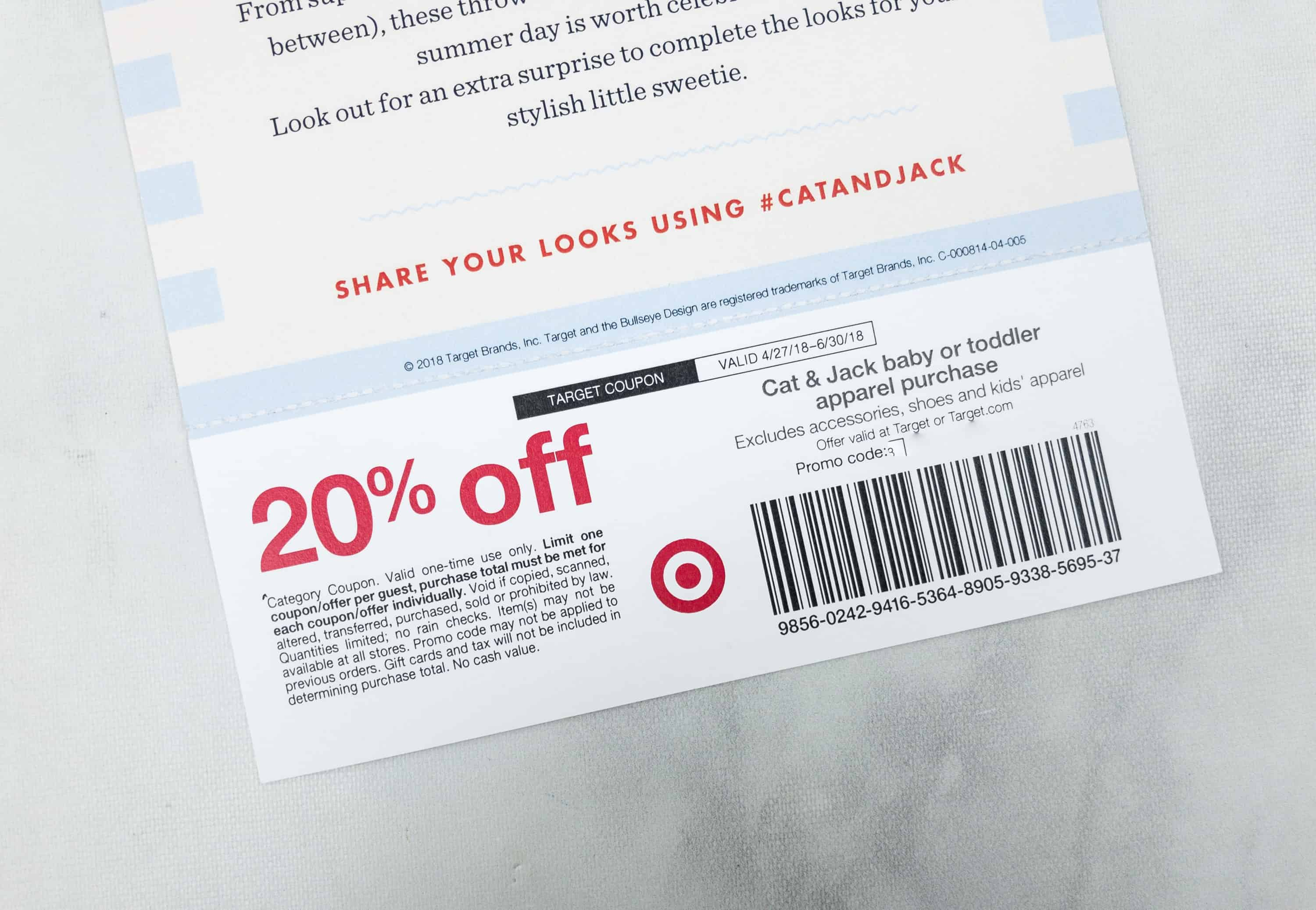 14c156e72 As a bonus, attached to the card is a coupon for 20% off on all Cat & Jack  baby or toddler apparel purchases. My baby needs even more clothes, ...
