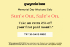 Gwynnie Bee Coupon: First Month FREE + 25% Off First Paid Month!