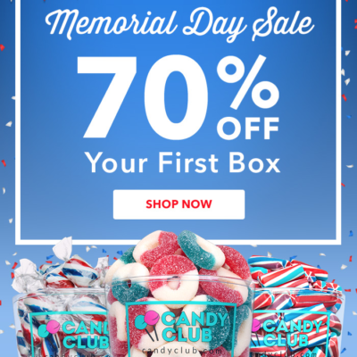 Candy Club Coupon: First Box 70% Off!