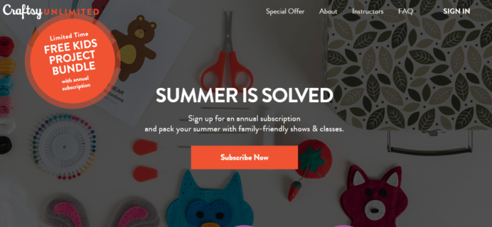 Craftsy Unlimited Coupon: Get Craftsy Unlimited Ultimate Family Package For Only $120!