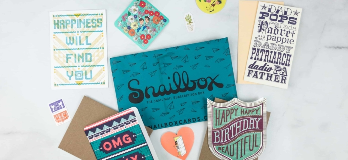 Snailbox May 2018 Subscription Box Review