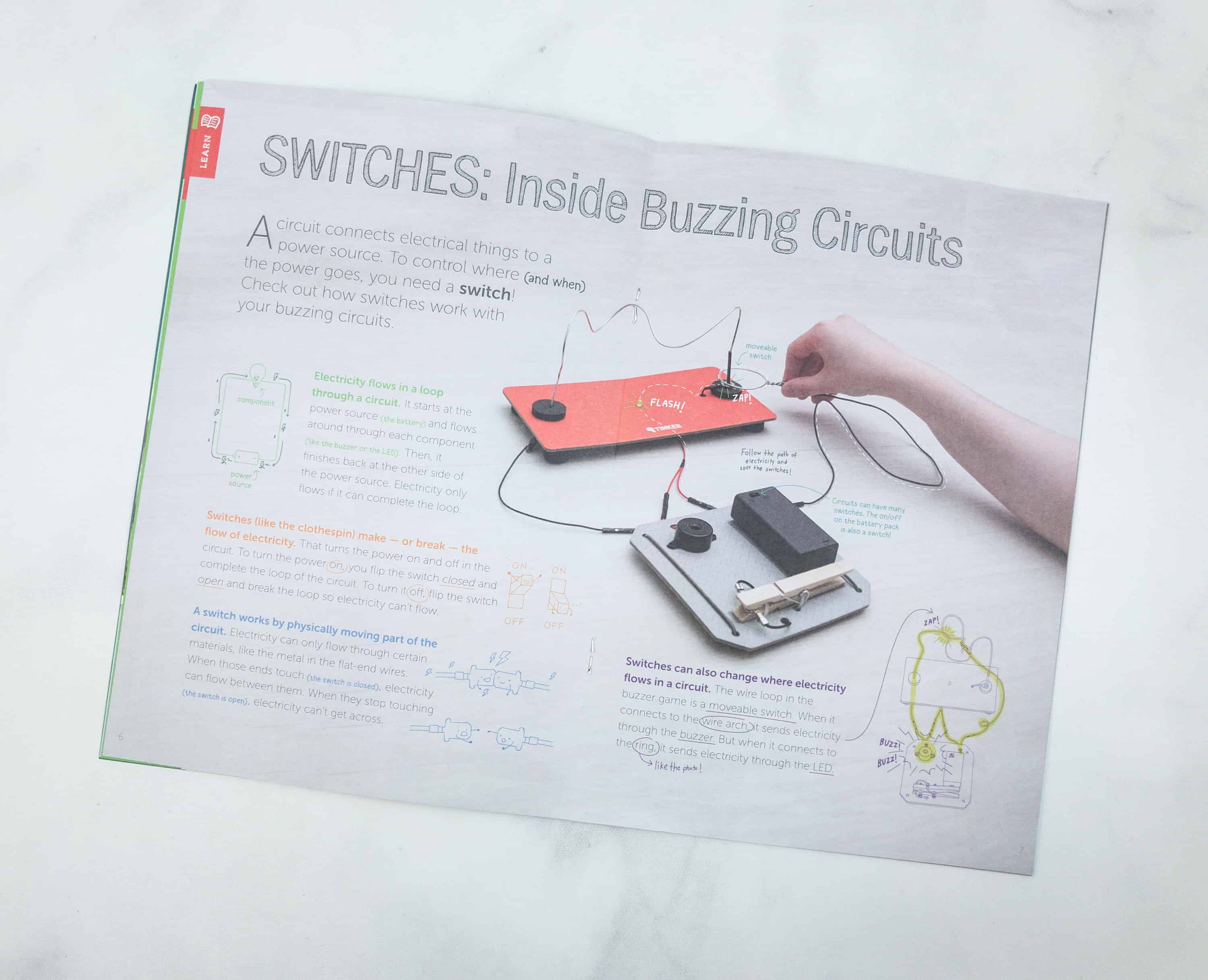 Tinker Crate Review Coupon Buzzing Circuits Hello Subscription 3 Way Switch 7