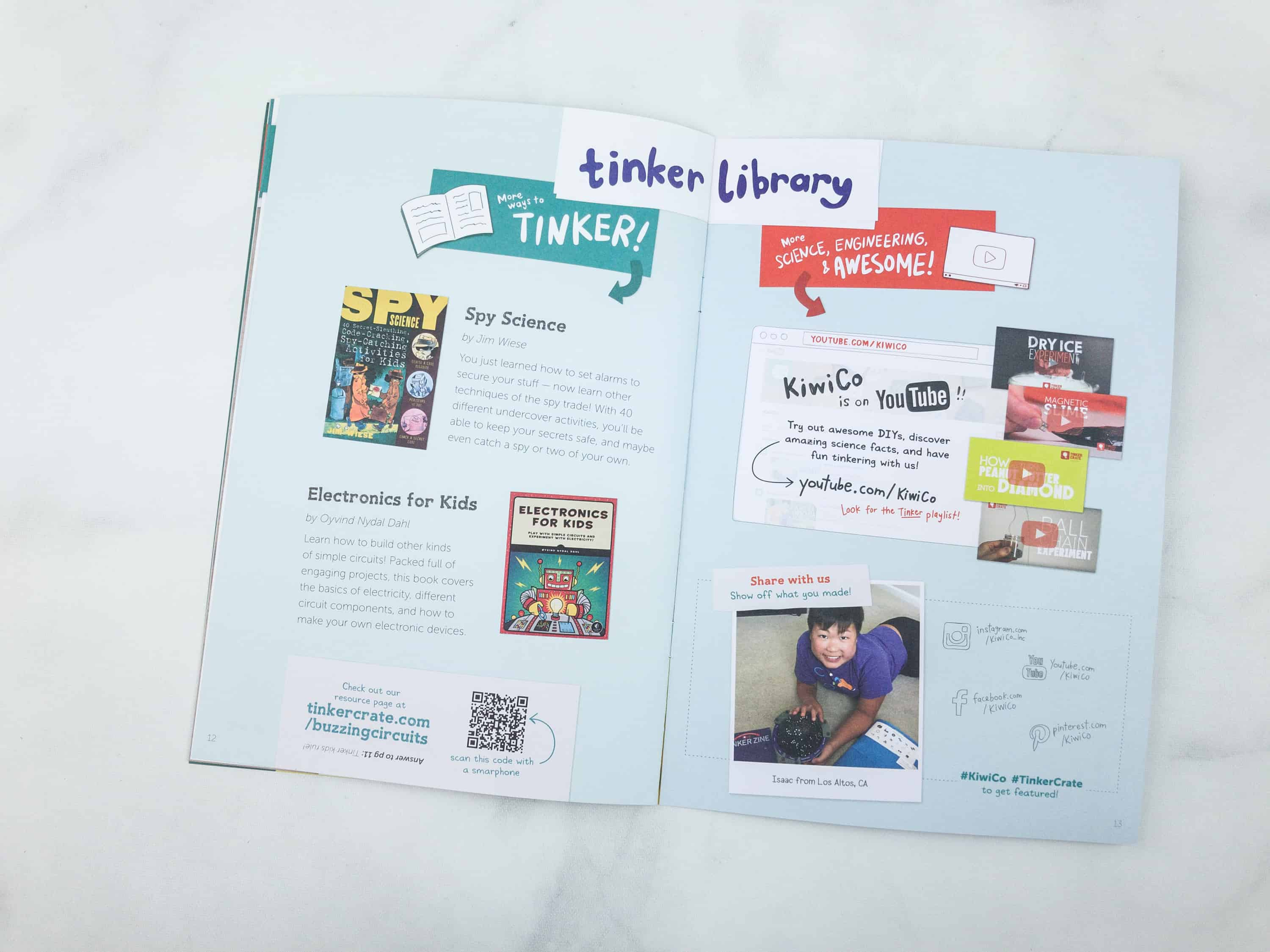 Tinker Crate Review Coupon Buzzing Circuits Hello Subscription Simple Intercom Circuit Electronic Projects Zine Also Has Book Suggestions For Kids Which Includes Spy Science And Electronics