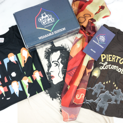 Geek Gear World of Wizardry Wearables Subscription Box Review + Coupon – May 2018