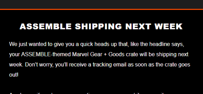 Loot Crate Marvel Gear + Goods May 2018 Shipping Update